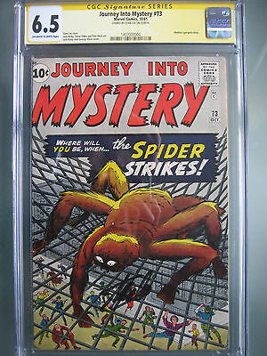 Journey Into Mystery #73 CGC 6.5 SS **Signed Stan Lee** Spider-Man Prototype