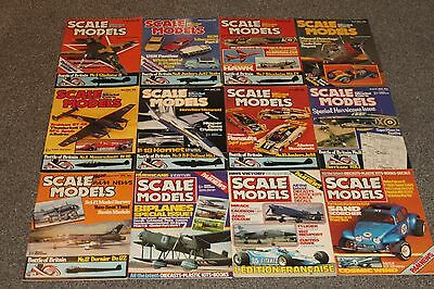 12 x SCALE MODEL MAGS 1980 - AIRCRAFT & SCALE MODEL MAGAZINES SALE - JOBLOT 41