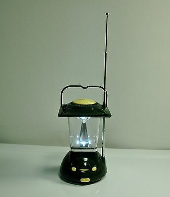 Radio Lantern Mini Coleman-Style Battery Light Am Antenna Very Good Works