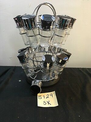 Olde Thompson 19 Jar Spice Rack Flower style - Great Condition - FREE SHIPPING!!