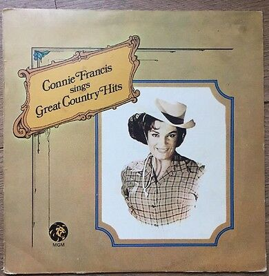 Connie Frances Sings Great Country Hits  Excellent Condition Vinyl Lp