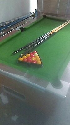 Full Size Pub Pool Table with light, slate bed