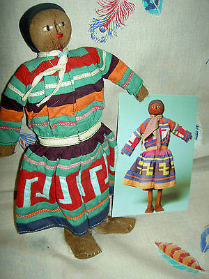 RARE early 1930s, large authentic palmetto male SEMINOLE Indian doll ~provenance