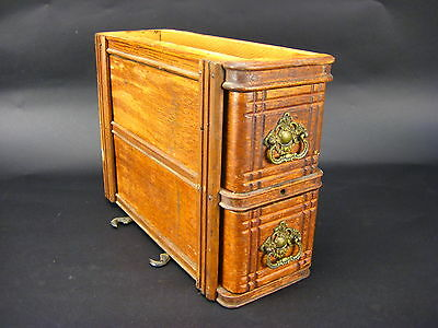 Vintage Singer Sewing Machine Cabinet Right Hand Drawer & Box Assembly
