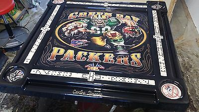 Green Bay Packers Domino Table with Puerto Rican Accents Domino Tables by Art