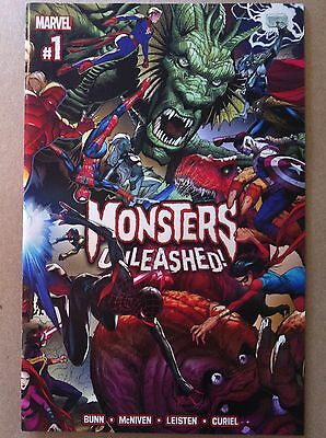 MONSTERS UNLEASHED (2016) #1 WRAPAROUND COVER STEVE McNIVEN CULLEN BUNN NM 1ST