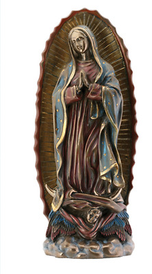 Our Lady of Guadalupe Statue Sculpture Figure *GIFT BOXED