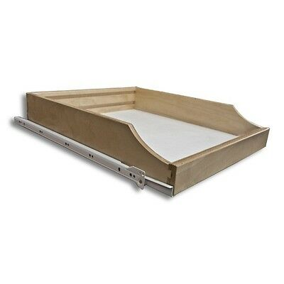 """Do-it-Yourself Roll-out Pantry Shelf, Prefinished, 22"""" Depth (RS.DIY22.PF)"""