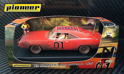 Pioneer Slot Car P017 Dodge Charger Dukes of Hazzard General Lee Moonshine Run