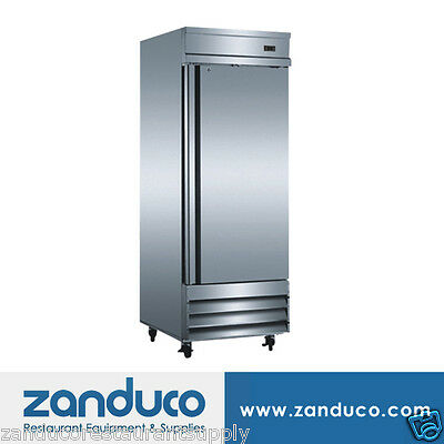 "Zanduco 29"" Stainless Steel Single Door Reach-In Refrigerator 20.6 Cu. Ft."