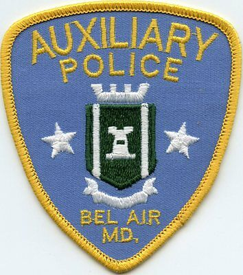 Bel Air Maryland Md Auxiliary Police Patch