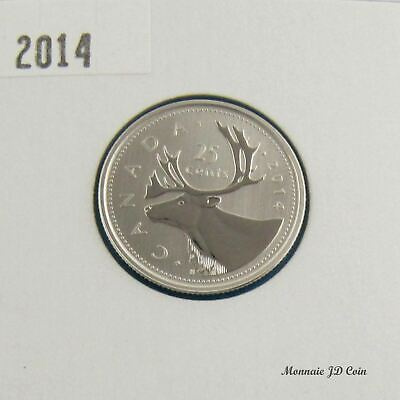 2014 Canada 25 Cents Caribou Specimen Coin Gem Uncirculated  From Set
