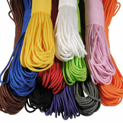 Nylon Paracord Parachute Cord Rope String for Hiking Camping 100FT 550lb