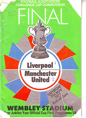 Liverpool V Manchester United Fa Cup Final 21 May 1977
