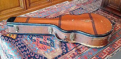 Vintage 1930's Gibson-Geib tweed / striped guitar case for L-5, SJ-200 etc.