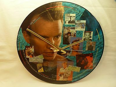 "Sting - The Dream Of The Blue Turtles - 12"" Vinyl Picture Disc Clock."