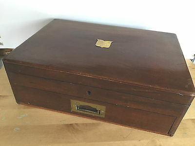 Vintage Mahogany Cutlery Box/Cabinet for Coins, Medals, Watch Colllectors Sewing
