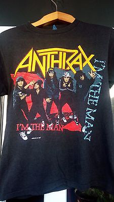 "Rare Antrax ""I'm the man"" *Big 4* 2sided t-shirt cotton M vintage"