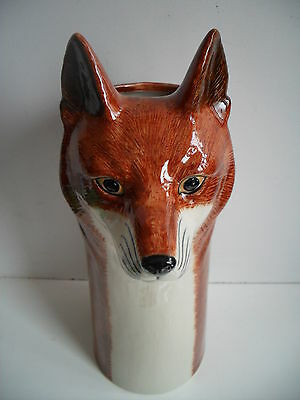 Beautiful Quail Pottery Ceramic Large Fox Flower Vase  Boxed Ideal Gift