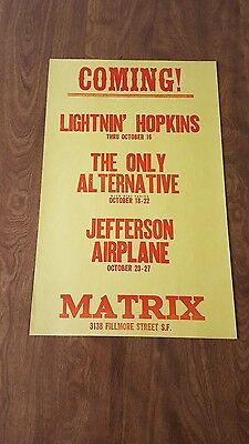 Jefferson Airplane Matrix poster