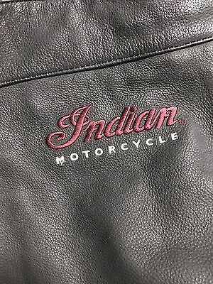 Indian Motorcycles Black Leather Lined Riding Chaps 286371203 MINT Mens XL Long