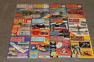 12 x SCALE MODEL MAGS 1984 - AIRCRAFT & SCALE MODEL MAGAZINES SALE - JOBLOT 45