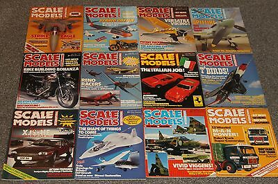12 x SCALE MODEL MAGS 1986 - AIRCRAFT & SCALE MODEL MAGAZINES SALE - JOBLOT 47