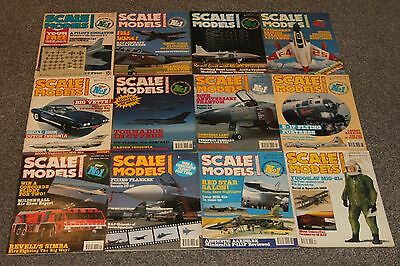 12 x SCALE MODELS MAGS 1989 - AIRCRAFT & SCALE MODEL MAGAZINES SALE - JOBLOT 50