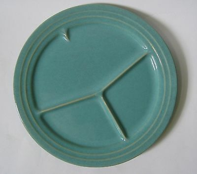 """VINTAGE Pacific Hostess CALIFORNIA POTTERY GRILL PLATE 12"""" GREEN 1940's"""