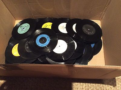 """Job lot of fifty vinyl singles for crafts and upcycling 7"""" records"""
