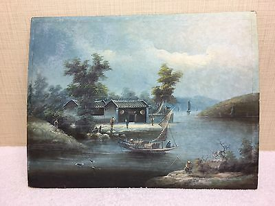 19TH Century Chinese/Japanese Oil Painting