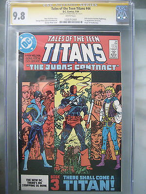 Tales of the Teen Titans #44 CGC 9.8 SS **Signed George Perez** 1st Nightwing
