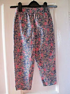 Girls  Vintage Debenhams lovely  floral cotton  Trousers   age 5 yrs  110 cm