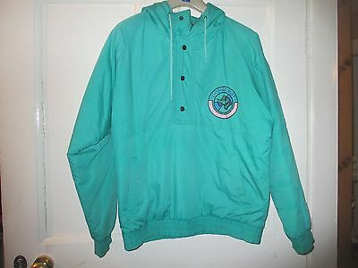 "VINTAGE BOYS CHEST 34 "" approx  12 YEARS  JADE GREEN  JACKET - ANORAK - COAT"