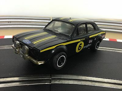 Scalextric Car Ford Escort RS1600 Black No6 C052 New Rear Tyres