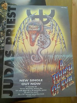 Judas Priest Touch of Evil CD Advert A4 Page Poster Kerrang 80's Rob Halford
