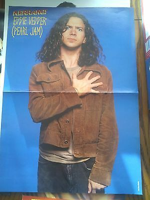 Pearl Jam Original Rare 90's Poster Eddie Vedder Mother Love Bone not dvd Live