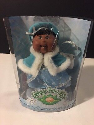Cabbage Patch Kids Holiday Edition Mini Doll Aa Light Blue Snowflake Outfit