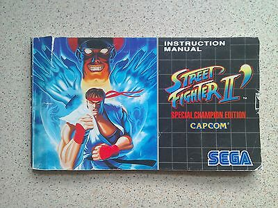 Street Fighter 2: Special Champion Edition Manual, Sega Mega Drive - MANUAL ONLY