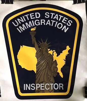United States Immigration Inspector Arm Patch - RARE Large Wall Decal