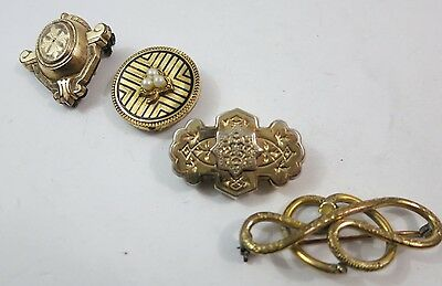 Batch of Victorian Brooch Bling with Broken Wings for Crafts Repurposing or Use
