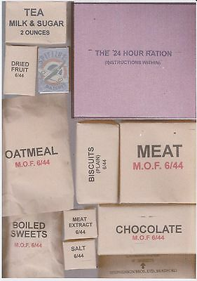 Repro  Ww2 British 24 Hr Rations And Box (Edible But Sold For Display)