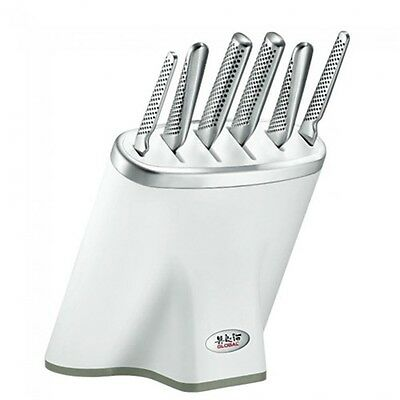 NEW Global Zeitaku 7pc Knife Block Set White