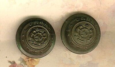 2 Wentworth Military Academy Staff Coat Uniform Buttons