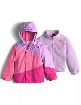 NWT North Face Toddler Girls Mountain View Triclimate Lup/pink Jacket Coat $130