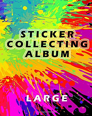 Sticker Collecting Album Large: Blank Sticker Book, 8 x 10, 64 Pages