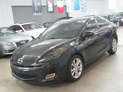 2011 Mazda Mazda3 4dr Sedan Manual s Grand Touring 47000 MILES GTR TOURING BLACK ON BLACK LOADED AUTOMATIC SUNROOF LEATHER REBUILT