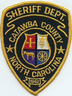 old vintage CATAWBA COUNTY NORTH CAROLINA NC SHERIFF POLICE PATCH