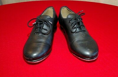 Bloch Women's Size 6 Oxford Style Tap Shoes Black Leather
