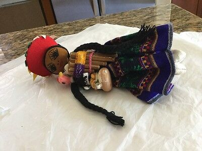 Hand Made Mexican Folk Art Fabric Cloth Doll
